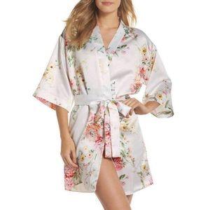 Flora Nikrooz Sleepwear Renata Short Satin Robe